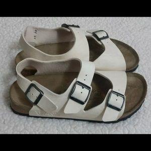 Birkenstock Burke's Fussbett Milano Sand Sandals